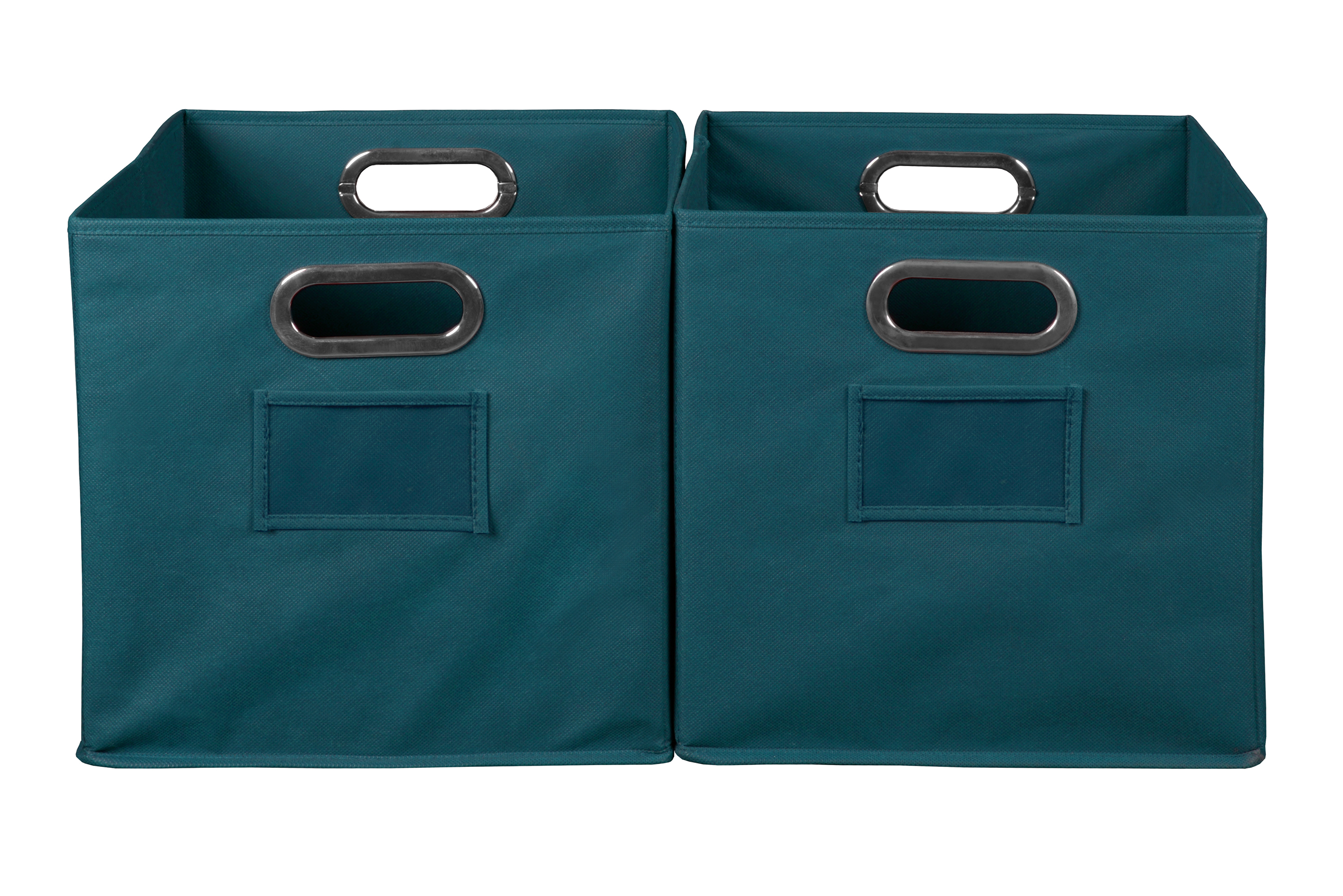 Niche Cubo Foldable Fabric Storage Bin, Set Of 2  Teal