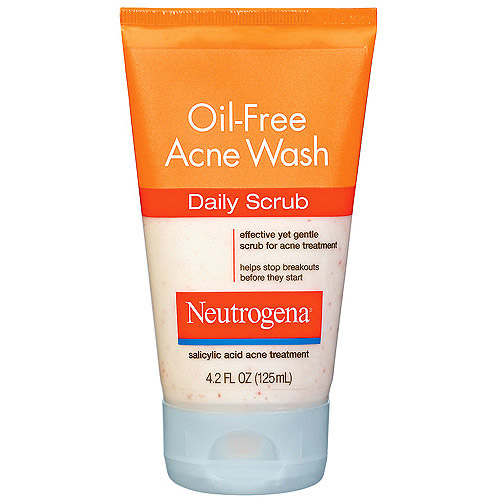 Neutrogena Oil-Free Acne Wash Daily Scrub, 4.2 oz