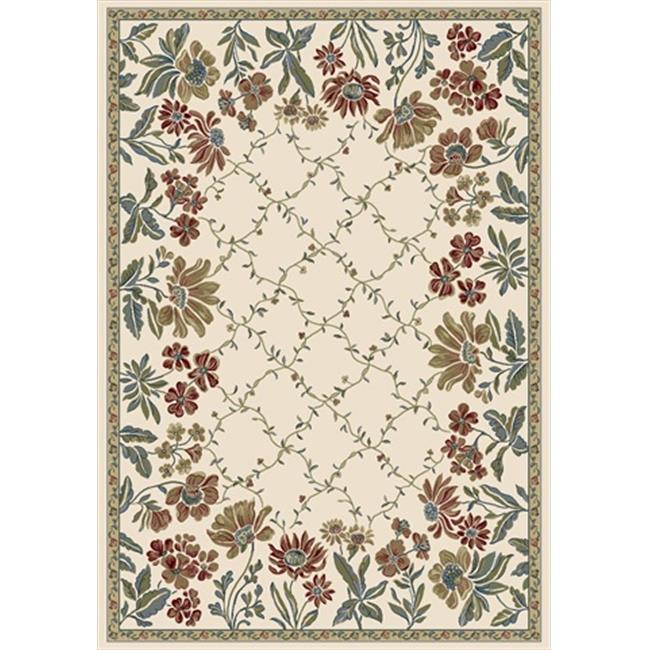 Dynamic Rugs AN46570846464 Ancient Garden 3 ft. 11 in. x 5 ft. 7 in. 57084-6464 Rug - Ivory - image 1 of 1