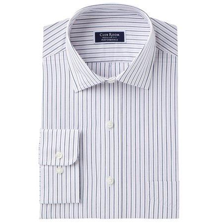 - Mens Single-Pocket Pinstriped Dress Shirt 16 1/2