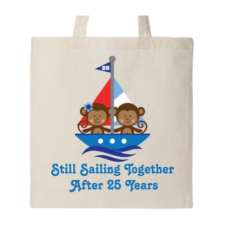 Gift For 25th Wedding Anniversary Tote Bag