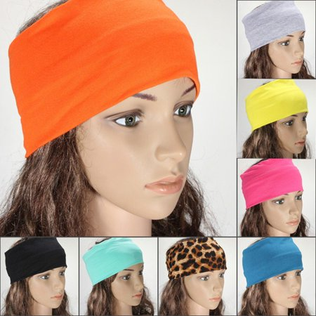 5inch Womens Yoga Headband Stretch Hairband Elastic Hair Band Turban ... e5c6647334c