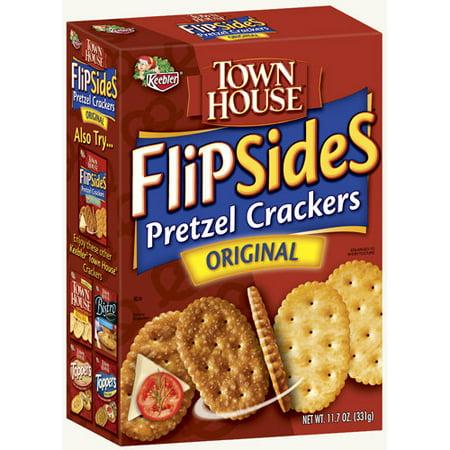 Keebler Town House Original Flipsides Pretzel Crackers, 11.7 oz
