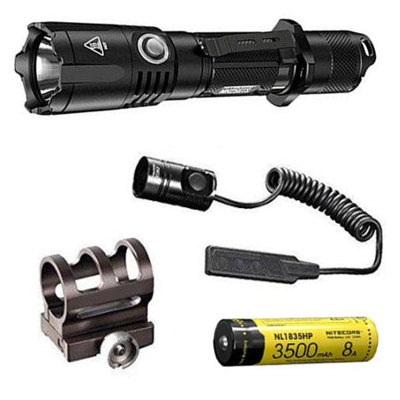 Combo: NITECORE MH25GTS 1800 Lumen Rechargeable Tactical Flashlight w/NL1835HP 3500mAh, GM02 Mount +RSW1 Pressure Switch Tactical Laser Light Combo