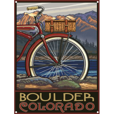 Boulder Colorado Fat Tire Bike Metal Art Print by Paul A. Lanquist (9
