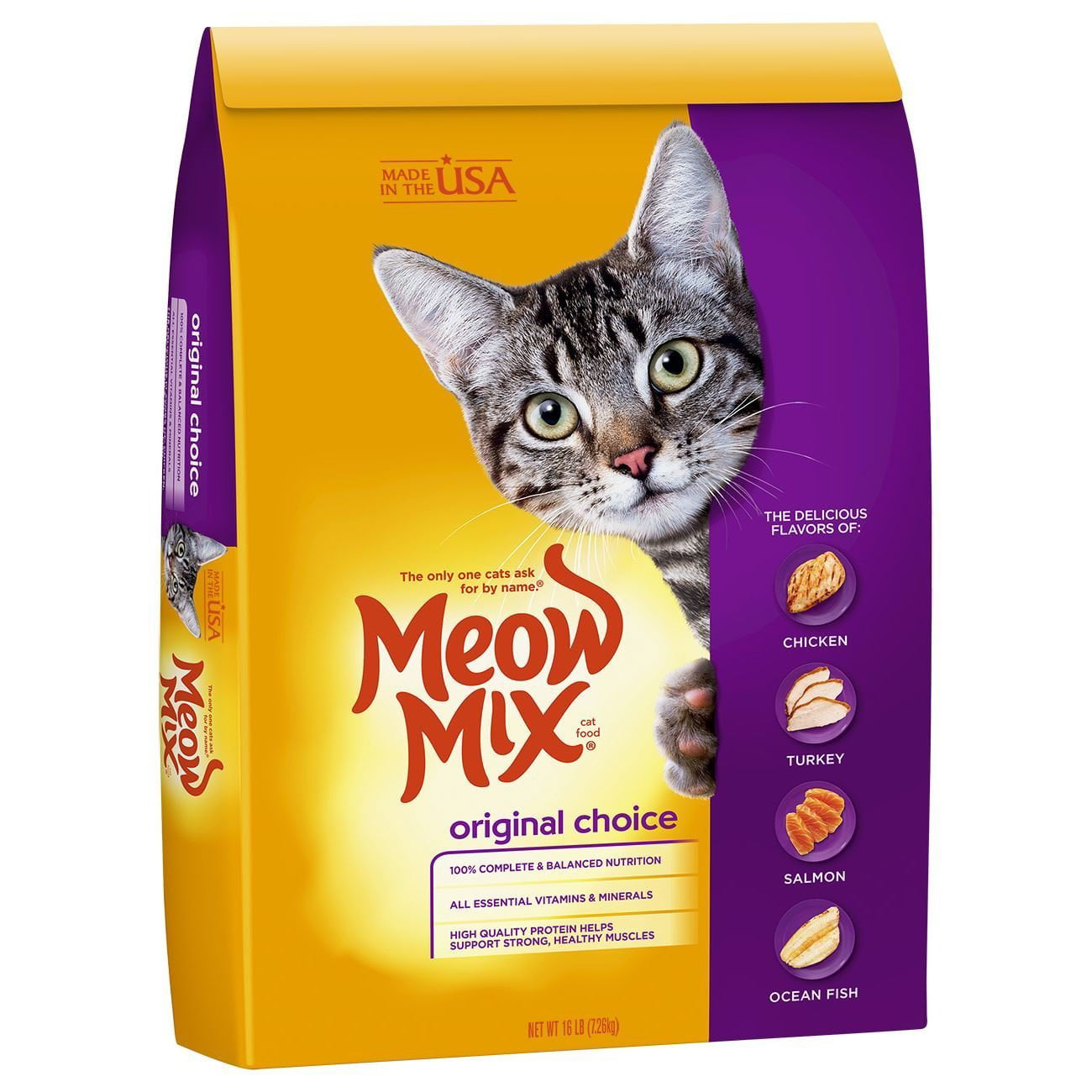 Meow Mix Original Choice Dry Cat Food, 16 lb by The J.M. Smucker Company