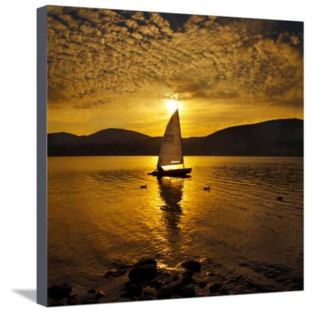 Evening Serenity Stretched Canvas Print Wall Art By Adrian Campfield