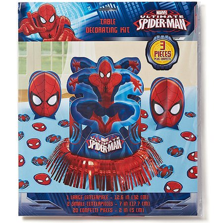 Spider man table decorations party supplies for Spiderman decorations