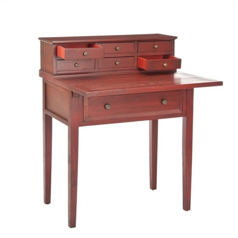 Safavieh Piper Cherry Fold-down Desk in Cherry and Oak