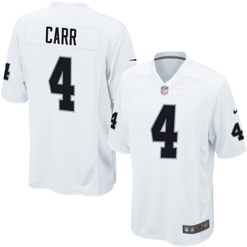 Derek Carr Oakland Raiders Nike Game Jersey - White