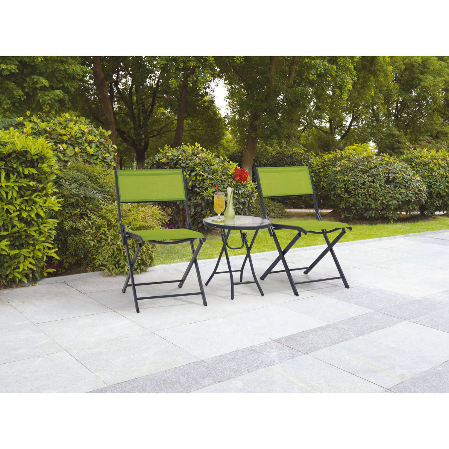 Mainstays Mystique Cove 3-Piece Folding Outdoor Bistro Set