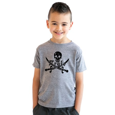 kids' pirate skull and crossbones math pi-rate t-shirt funny youth shirt