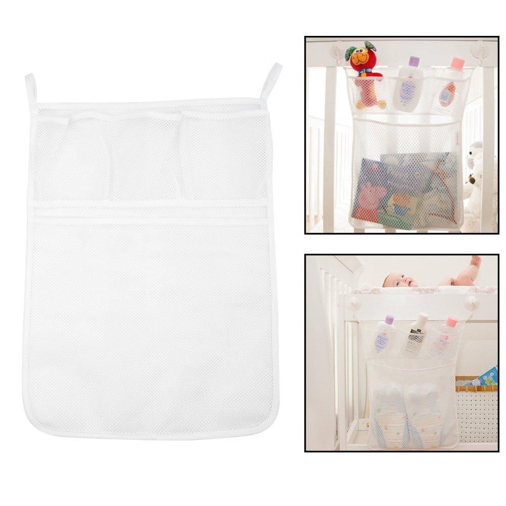 Aramox Bath Tub Organizer Bag Storage Holder Basket Kids Baby Shower Toys  Net Bathtub ,Toy