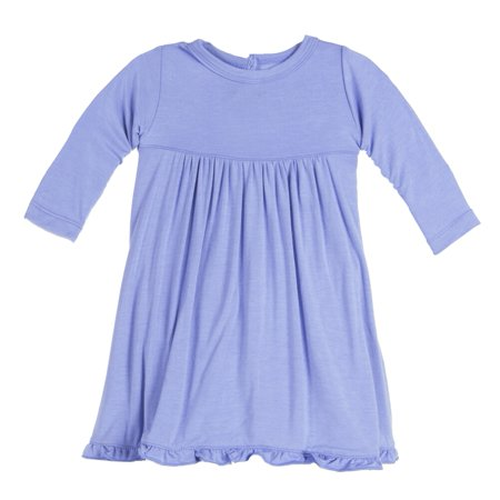 edf716aae3b94 KicKee Pants - KicKee Pants Baby Girls Long Sleeve Swing Dress Forget Me  Not - Walmart.com