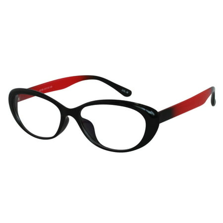 1cc4beb69ffd Ebe Reading Glasses Womens Mens Cat Eye Acetate Black Red remarkable grade  Anti Glare FDA approved ht88186 - Walmart.com