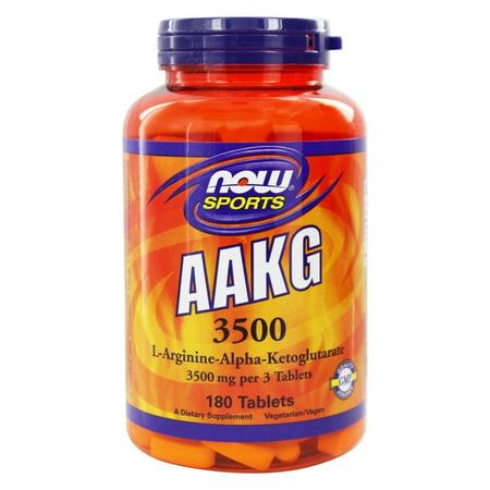 NOW Foods - AAKG 3500 mg. - 180 Tablets (Now Foods Aakg)