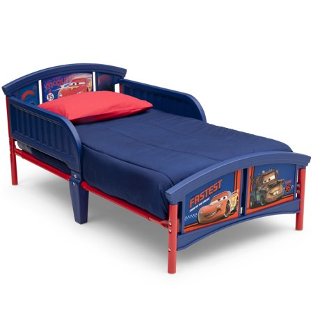 Disney Pixar Cars Plastic Toddler Bed Walmart Com