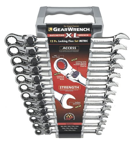 GearWrench 85698 12-Piece XL Locking Flex Head Ratcheting Wrench Set