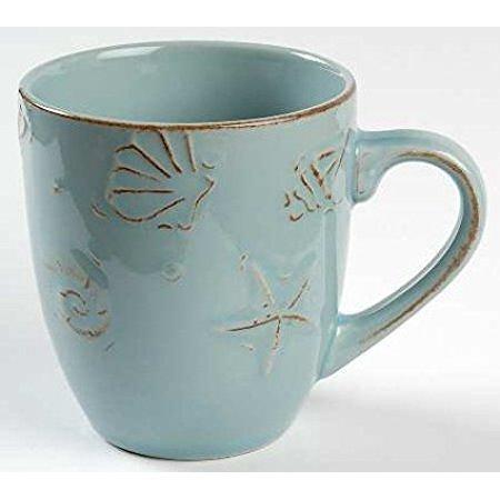 Thomson Pottery Cape Cod Coffee Mugs Aqua Blue, Set of 4 - Open ...