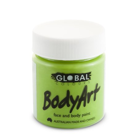 Green Face Paint (Global Body Art Face Paint - Liquid Green Light (45 ml/1.5)