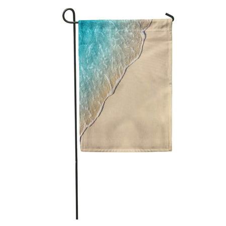 JSDART Sand Wave of Blue Ocean on Sandy Beach Selective Focus Garden Flag Decorative Flag House Banner 28x40 inch - image 1 de 2