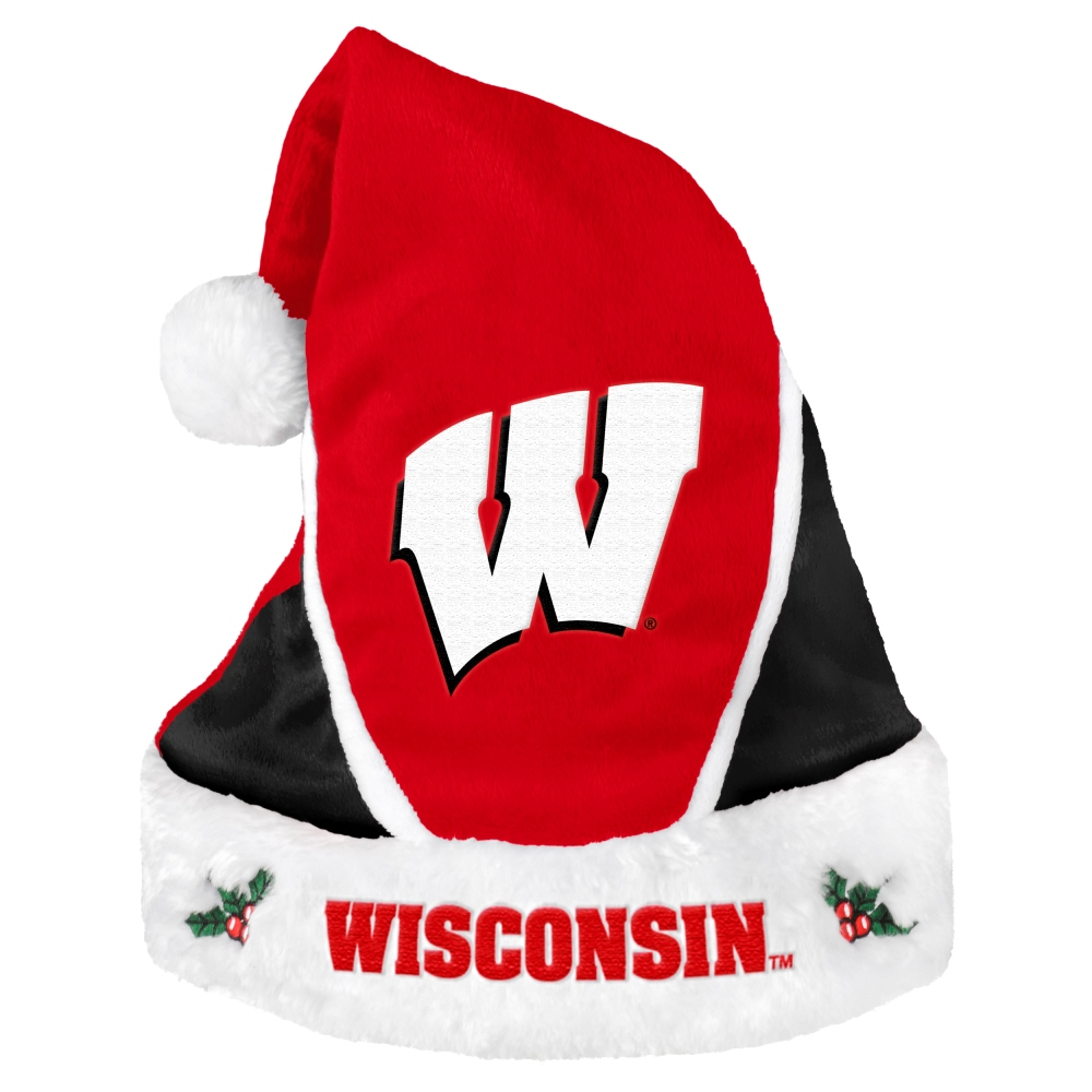 Wisconsin Badgers Official NCAA 18 inch  Christmas Santa Hat by Forever Collectibles