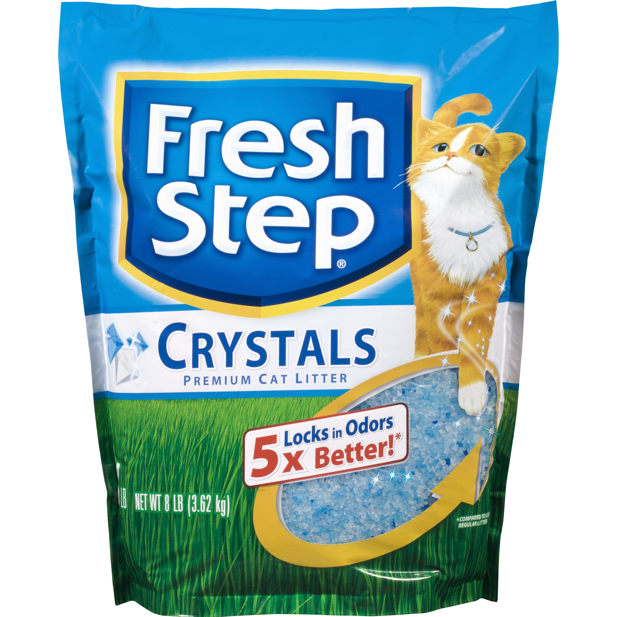 Fresh Step Crystals, Premium Cat Litter, Scented, 8 lbs