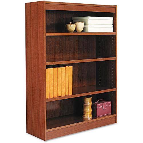 alera square corner bookcase  wood veneer  36 quot  x 12 quot  x 48