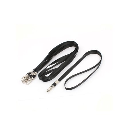 - Unique Bargains 5 x Swivel Metal Clip Flat Lanyard Neck Strap Black for Working Card Holder
