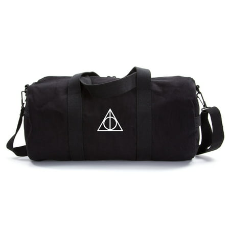 Harry Potter Deathly Hallows Symbol Durable Canvas Military Duffle Sport Gym