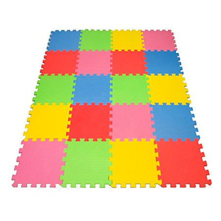 Angels 20 XLarge Foam Mats Toy ideal Gift -Colorfull Tiles Multi Use, Create & Build A Safe PLay Zone Area, Interlocking eva Non-Toxic Floor for Children Toddler Infant Kids Baby Room & Yard Superyard - Halloween Math Ideas For Preschoolers