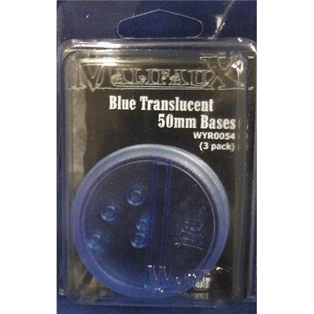 - Blue Translucent Bases 50mm (3) by Wyrd Miniatures