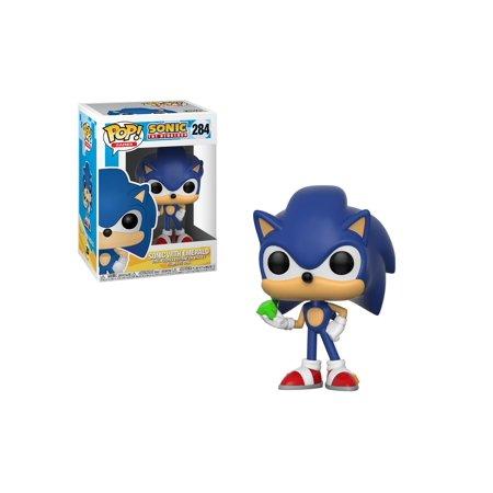 1c04a85d086 POP! Games  Sonic - Sonic Vinyl Figure w  Emerald - Walmart.com
