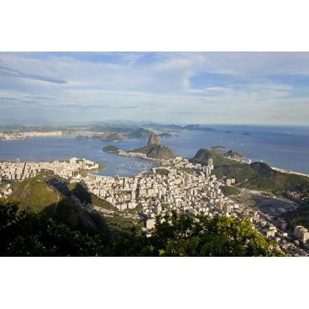 View over Sugarloaf Mountain in Guanabara Bay, Rio de Janeiro Print Wall Art By Peter Adams