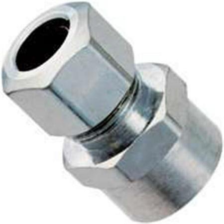 Plumb Pak 1 2 in Sweat x 3 8 in Dia Compression Chrome Straight Connec