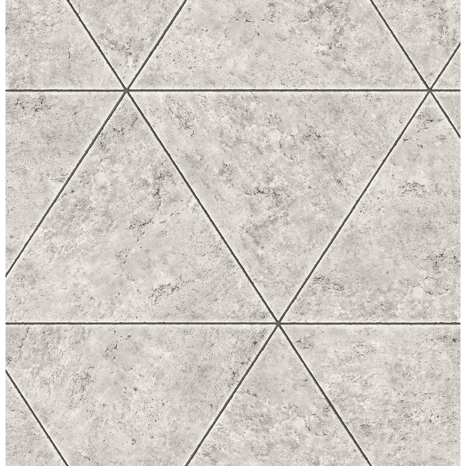 A-Street Prints Polished Concrete Geometric Wallpaper