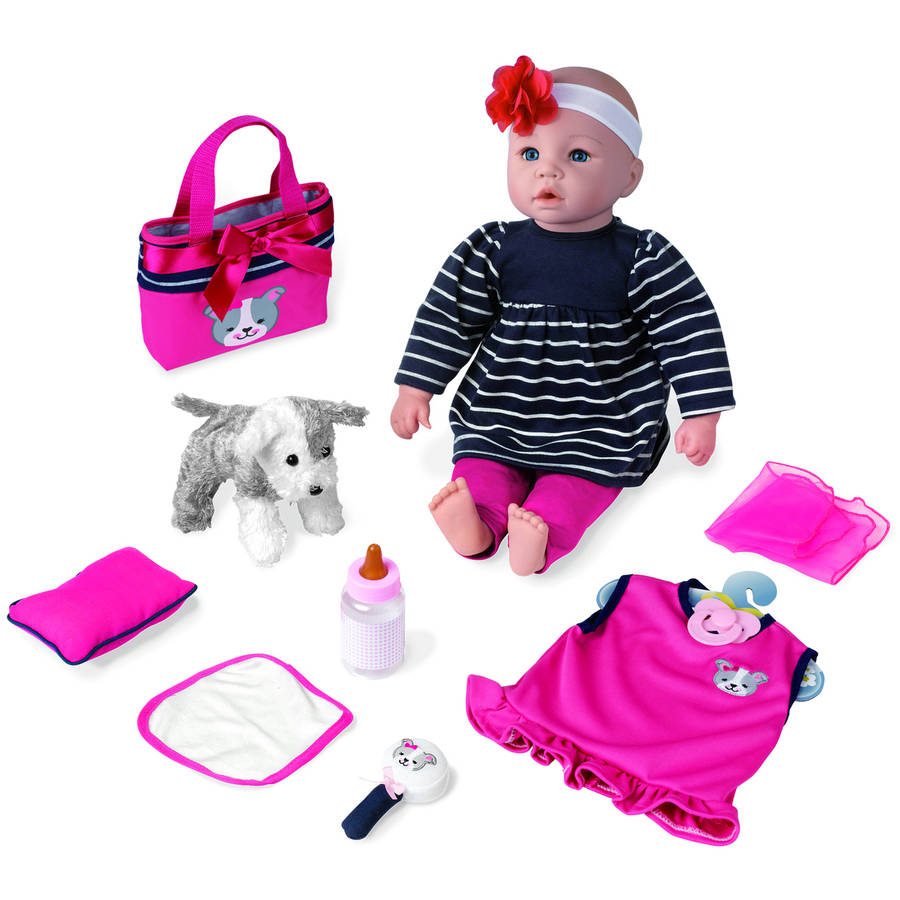 "My Sweet Love 18"" Baby Doll Gift set with Puppy"
