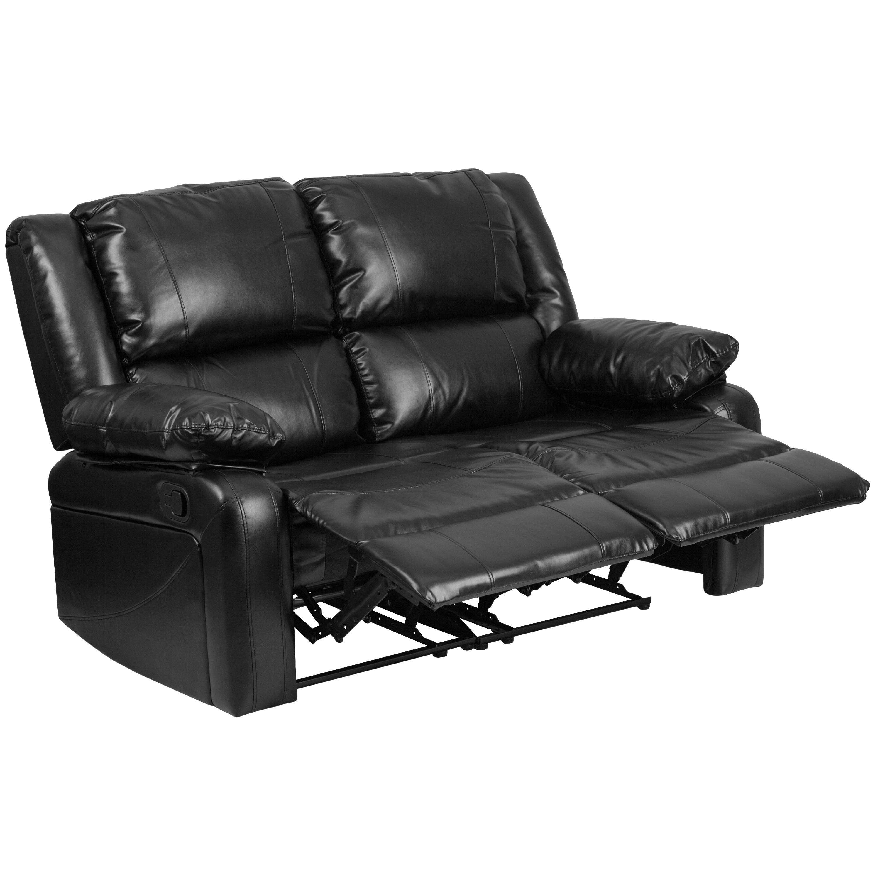 Phenomenal Flash Furniture Harmony Series Black Leather Reclining Short Links Chair Design For Home Short Linksinfo