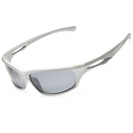3553686b8c SIREN - Siren Polarized Sports Sunglasses w Case TR90 Unbreakable Frame -  Grey Lens on Grey Frame - Walmart.com