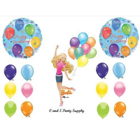 Barbie Birthday Party Decorations (BARBIE Happy Birthday PARTY Balloons Decorations)