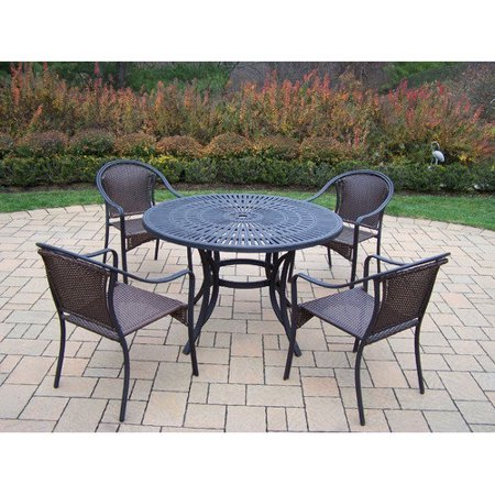 oakland living sunray tuscany 48 in patio dining set