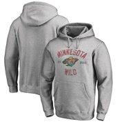 Minnesota Wild Fanatics Branded Vintage Heritage Pullover Hoodie -  Heathered Gray 86b9f625f