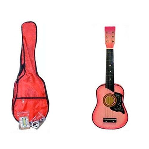 Stedman Pro Kids' Toy Acoustic Guitar Kit in Pink