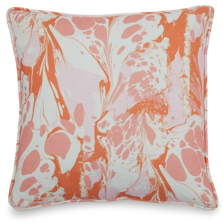 """Vintage Marble Decorative Throw Pillow, 18x18"""" by Drew Barrymore Flower Home"""