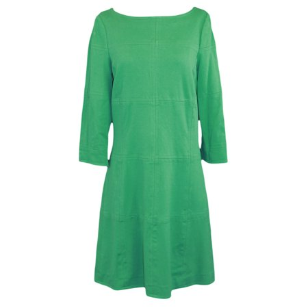 ELIZABETH MCKAY Martin Jolly Green 3/4 Sleeve Boat Neck Dress 7078
