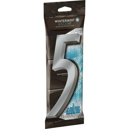(3 Pack) 5 Gum, Sugar Free Wintermint Ascent Chewing Gum, 3