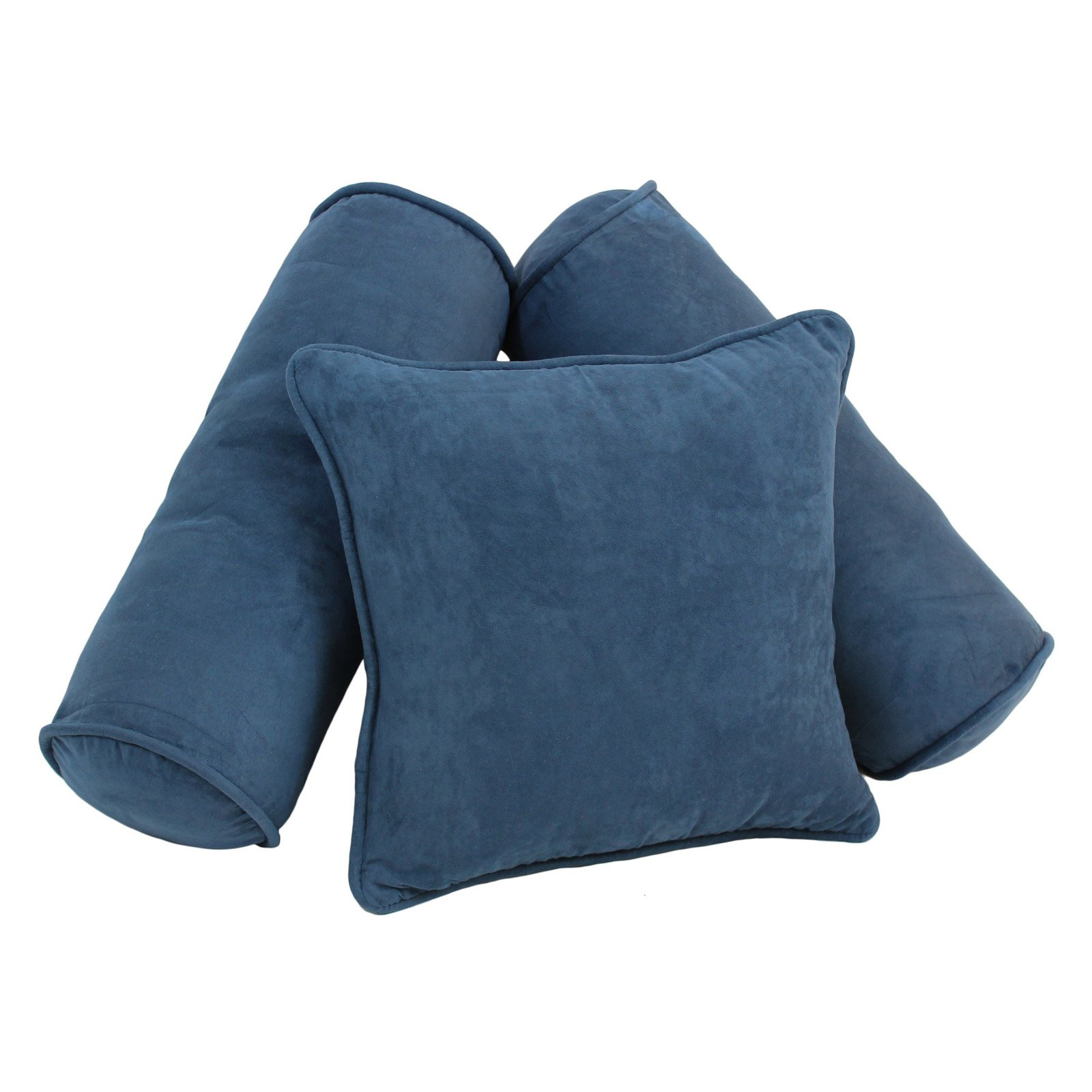 Blazing Needles 3 Piece Microsuede Throw Pillow Set by Blazing Needles