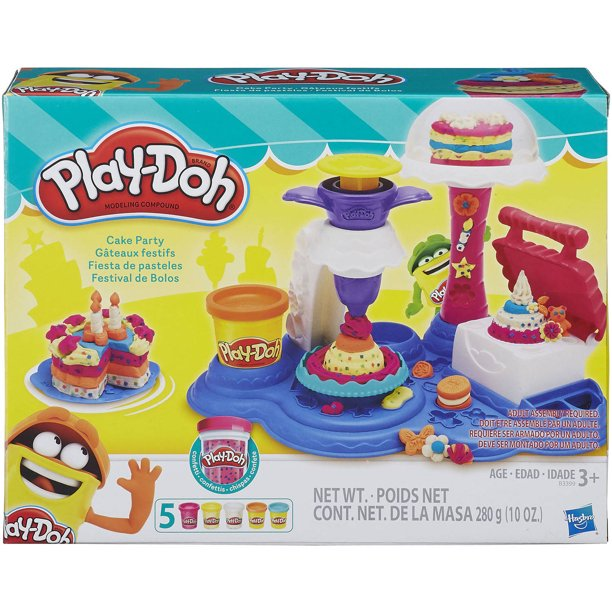 Play-Doh Cake Party Food Set with 5 Cans of Dough