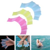 BALIGHT 1x Silicone Diving Swimming Flipper Hand Fin Swim Web Training Glove Gear Paddle