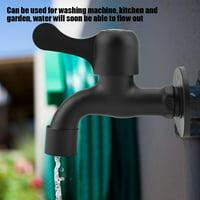 OTVIAP 304 Stainless Steel Black Wall Mount Tap Garden Water Faucet for Bathroom, Garden Water Tap, Water Faucet